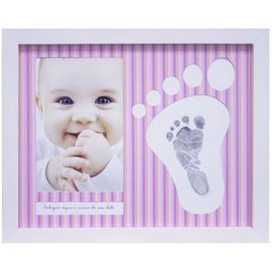 Porta Retrato Baby Pézinho Rosa 10x15cm