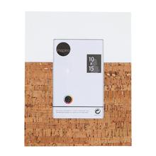 Porta Retrato Cortiça Branco e Marrom 10x15cm