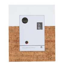Porta Retrato Cortiça Branco e Marrom 13x18cm