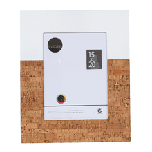 Porta Retrato Cortiça Branco e Marrom 15x21cm