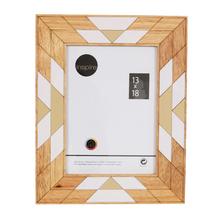 Porta Retrato Étnico Preto 13x18cm