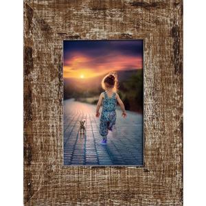 Porta Retrato Madeira Demolição Marrom 10x15cm