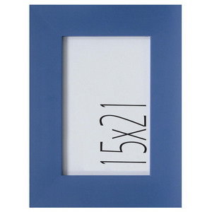 Porta Retrato Madeira Nick 21x15cm Azul Kapos