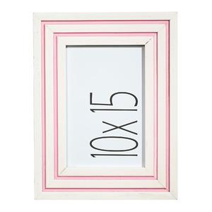 Porta Retrato Milu Branco e Rosa 10x15cm