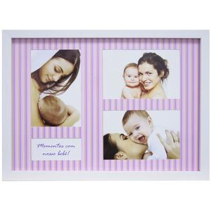 Porta Retrato Multifotos Baby Rosa 37x27cm