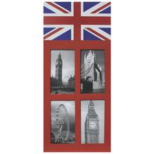 Porta Retrato Multifotos England Vermelho 26x48cm