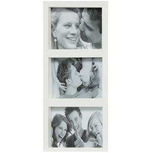 Porta Retrato Multifotos Fine Branco 17x32cm
