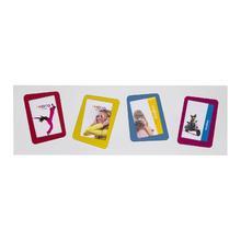 Porta Retrato Multifotos Funny Colorido 72,5x23,5cm