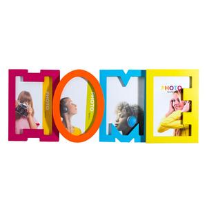 Porta Retrato Multifotos Home Colorido 42x17cm