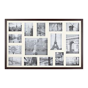 Porta Retrato Multifotos Madeira e Vidro Castor 53x83cm