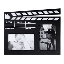 Porta Retrato Multifotos MDF Preto 31x23cm