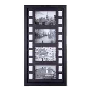 Porta Retrato Multifotos MDF Preto 48x28cm