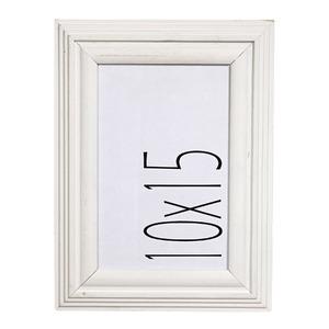 Porta Retrato Noz Branco 10x15cm