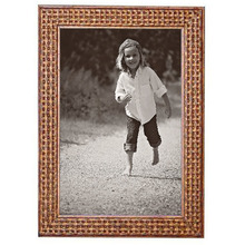 Porta Retrato Unifoto Madeira e Vidro Marrom 15x21cm