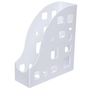 Porta Revista Plástico 28x25x9 cm Branco