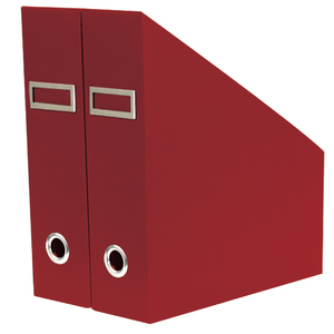 Porta Revista Plástico Vermelho 32x24x9cm Spaceo