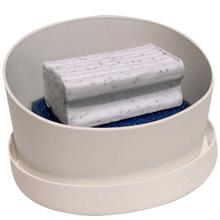 Porta Sabão Plástico 9,5x16,2x12,2 10842 Branco Brinox