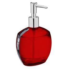 Porta Sabonete Líquido 300ml Plástico Oval Spoom Vermelho