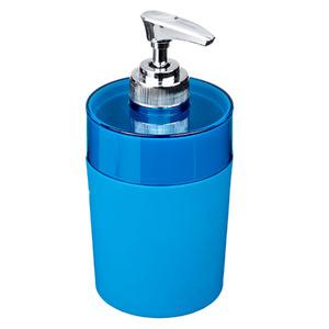 Porta Sabonete Líquido 340ml Plástico Color Azul