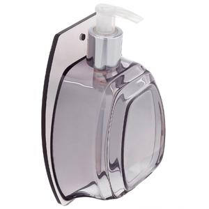 Porta Sabonete Líquido 350ml Acrílico Oval Clássica Fumê
