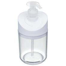 Porta Sabonete Líquido 350ml Plástico Redondo Banhar Branco
