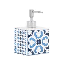 Porta Sabonete Líquido Azul em Cerâmica Mosaic Sensea