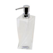 Porta Sabonete Líquido Branco em Acrílico 200ml Twist Importado