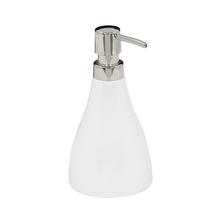 Porta Sabonete Líquido Branco em Resina Plástica 250ml Curvino Sensea
