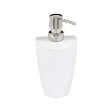 Porta Sabonete Líquido Branco em Resina Plástica 275ml Torina Sensea