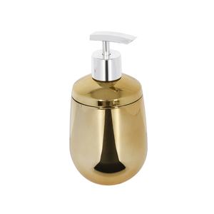 Porta Sabonete Líquido Dourado em Plástico 400ml Belly Sensea