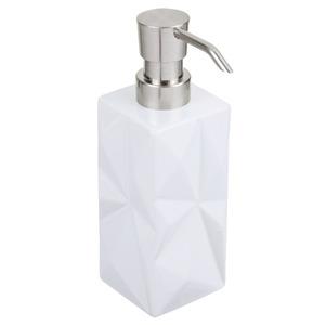 Porta Sabonete Líquido Louça Retangular Diamond Branco