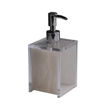 Porta Sabonete Líquido Madrepérola Branco em Acrílico Formacril