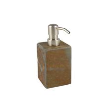 Porta Sabonete Líquido Marrom em Pedra Heavy Importado
