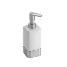 Porta Sabonete Líquido Metal e Cerâmica Gia Branco Interdesign