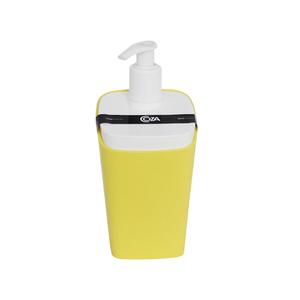 Porta Sabonete Líquido Plástico 350ml Square Amarelo