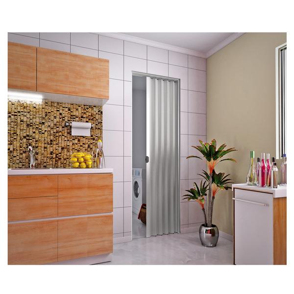 Porta sanfonada lisa pl stico pvc ambos os lados 2 1x0 7m - Porta pvc leroy merlin ...