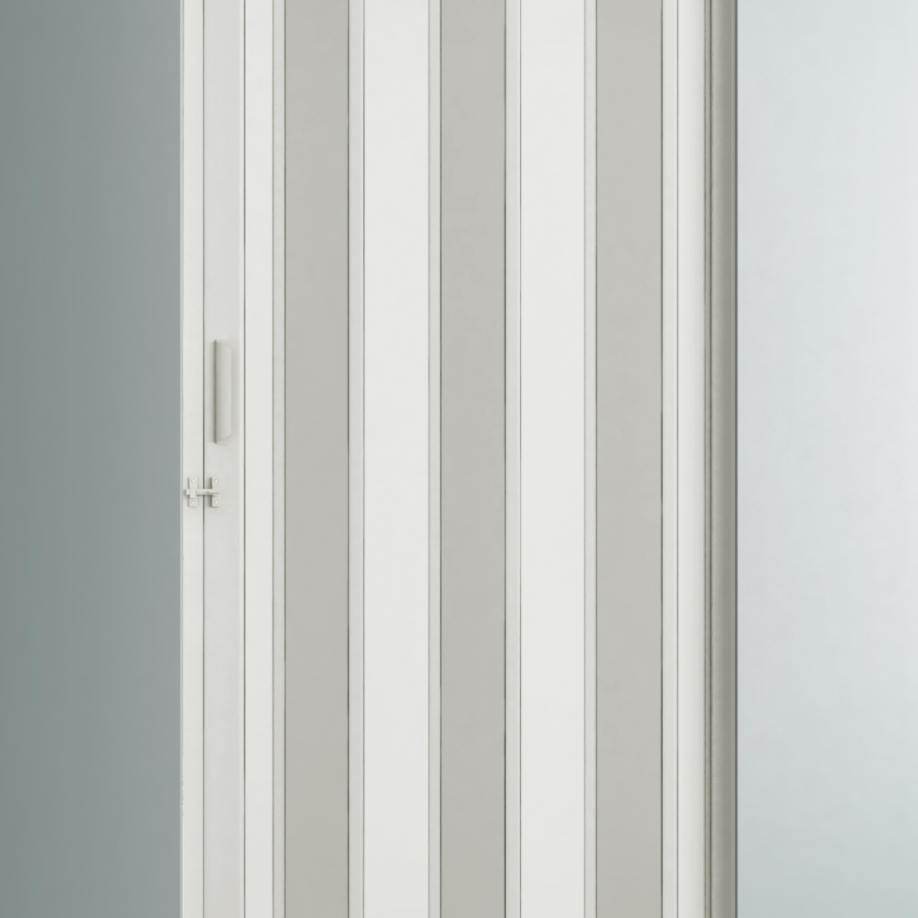 porta sanfonada lisa pl stico pvc ambos os lados 2 1x0 84m