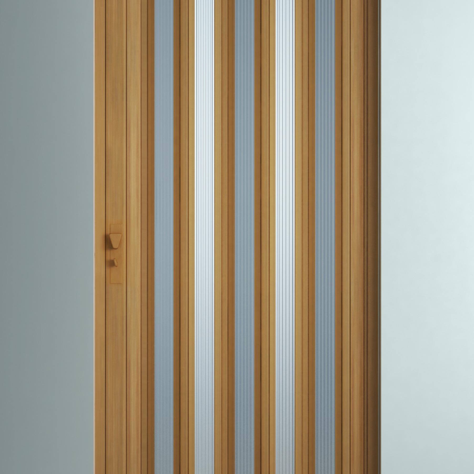 Porta sanfonada decorada pl stico pvc ambos os lados 2 1x0 - Porta pvc leroy merlin ...