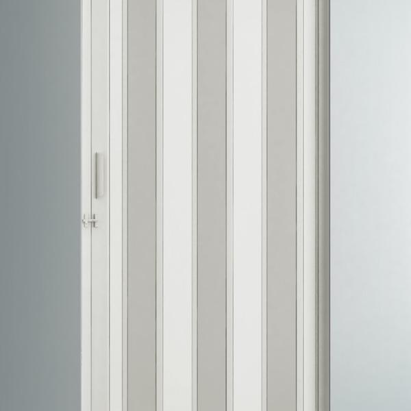 Porta montada sanfonado lisa pl stico ambos os lados 2 for Perfil u aluminio leroy merlin