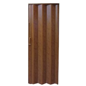 Porta Sanfonada Lisa Plástico Imbuia Ambos os Lados 2,1x0,84m Hoggan