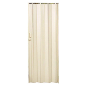 Porta Sanfonada PVC Lisa Prática Areia 210 x 84 cm