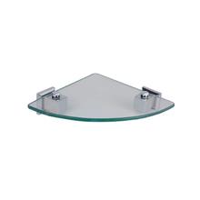 Porta Shampoo de Canto Simples Parafuso Metal e Vidro Prata 6x19,5x27cm Ducon Metais