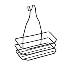 Porta Shampo para Box Reto Metal Outline Zamar