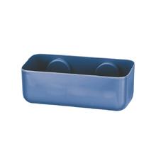 Porta Shampo Reto Plástico Azul Arthi