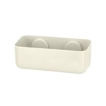 Porta Shampo Reto Plástico Off White Arthi