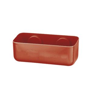 Porta shampoo reto simples ventosa pl stico vermelho for Porta asciugamani leroy merlin