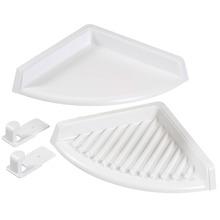 Porta Shampoo Canto Duplo 3x25x19cm Branco