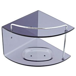 Porta Shampoo Canto Duplo 15x16,30x16,50cm Fumê