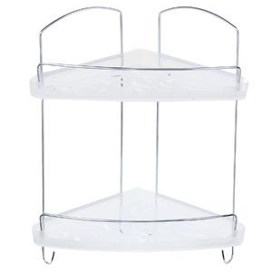 Porta Shampoo Canto Duplo 18,50x27x32cm Transparente