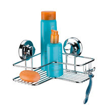 Porta Shampoo Canto Simples 13x24,5x23cm Prata